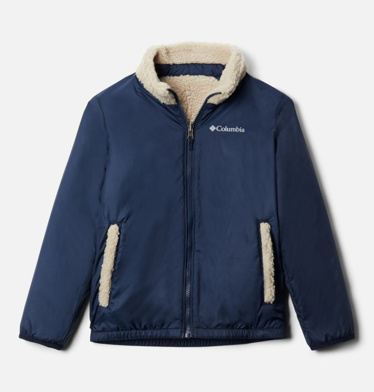 Archer Ridge™ Reversible Full Zip   271   S Kids' Archer Ridge™ Reversible Full Zip Jacket, Ancient Fossil, Collegiate Navy, a1