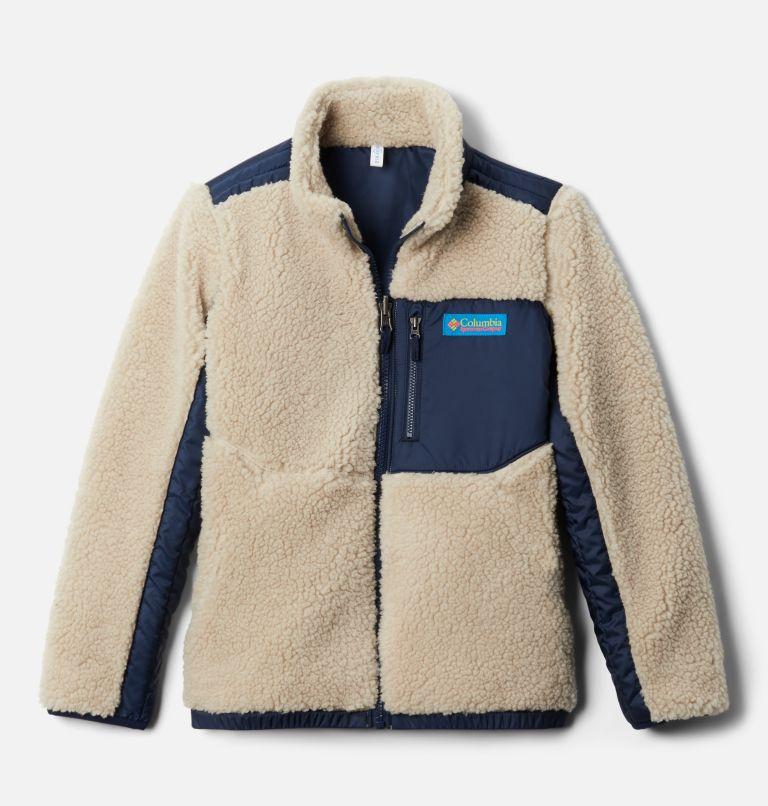 Archer Ridge™ Reversible Full Zip   271   S Kids' Archer Ridge™ Reversible Full Zip Jacket, Ancient Fossil, Collegiate Navy, front