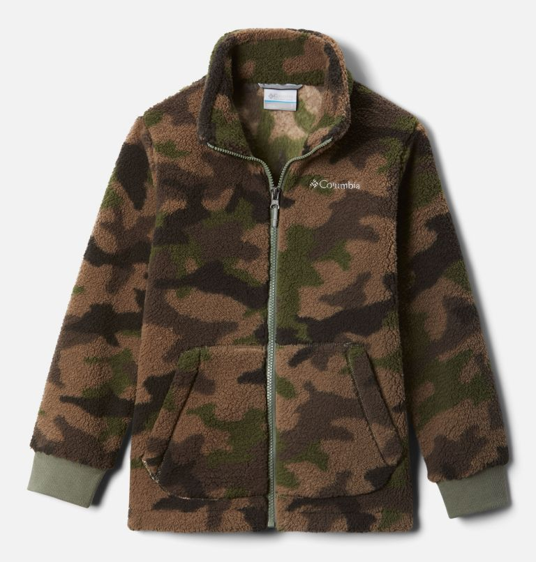 Rugged Ridge™ II Sherpa Full Zip | 316 | L Boys' Rugged Ridge™ II Full Zip Sherpa, Cypress Trad Camo Print, front