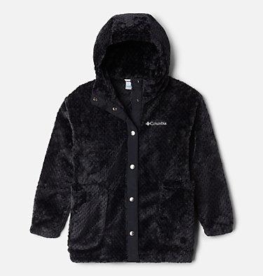Girls' Fire Side™ Long Sherpa Fleece Jacket Fire Side™ Sherpa Long Jacket | 618 | XXS, Black, front