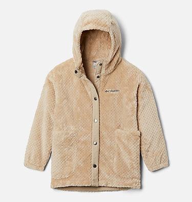 Girls' Fire Side™ Long Sherpa Fleece Jacket Fire Side™ Sherpa Long Jacket | 618 | XXS, Ancient Fossil, front