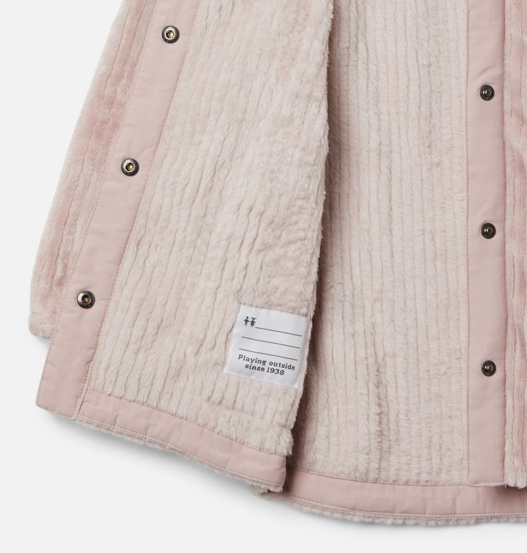 Fire Side™ Sherpa Long Jacket | 618 | XXS Girls' Fire Side™ Long Sherpa Fleece Jacket, Mineral Pink, a1