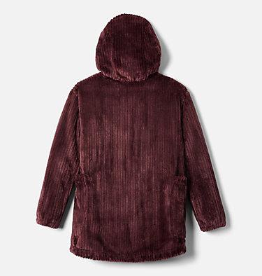 Girls' Fire Side™ Long Sherpa Fleece Jacket Fire Side™ Sherpa Long Jacket | 618 | XXS, Malbec, back