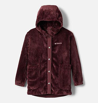 Girls' Fire Side™ Long Sherpa Fleece Jacket Fire Side™ Sherpa Long Jacket | 618 | XXS, Malbec, front