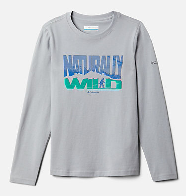 Boys' Naturally Wild™ Graphic Long Sleeve Shirt Naturally Wild™ Graphic LS Tee | 100 | XS, Columbia Grey, front
