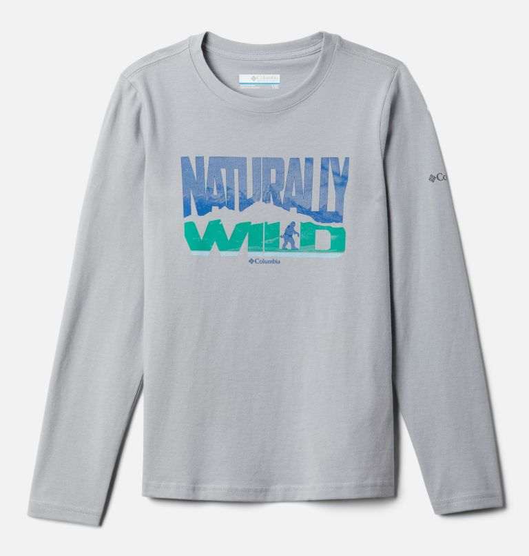 Naturally Wild™ Graphic LS Tee | 039 | M Boys' Naturally Wild™ Graphic Long Sleeve Shirt, Columbia Grey, front