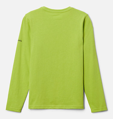 Boys' Naturally Wild™ Graphic Long Sleeve Shirt Naturally Wild™ Graphic LS Tee | 100 | XS, Bright Chartreuse, back