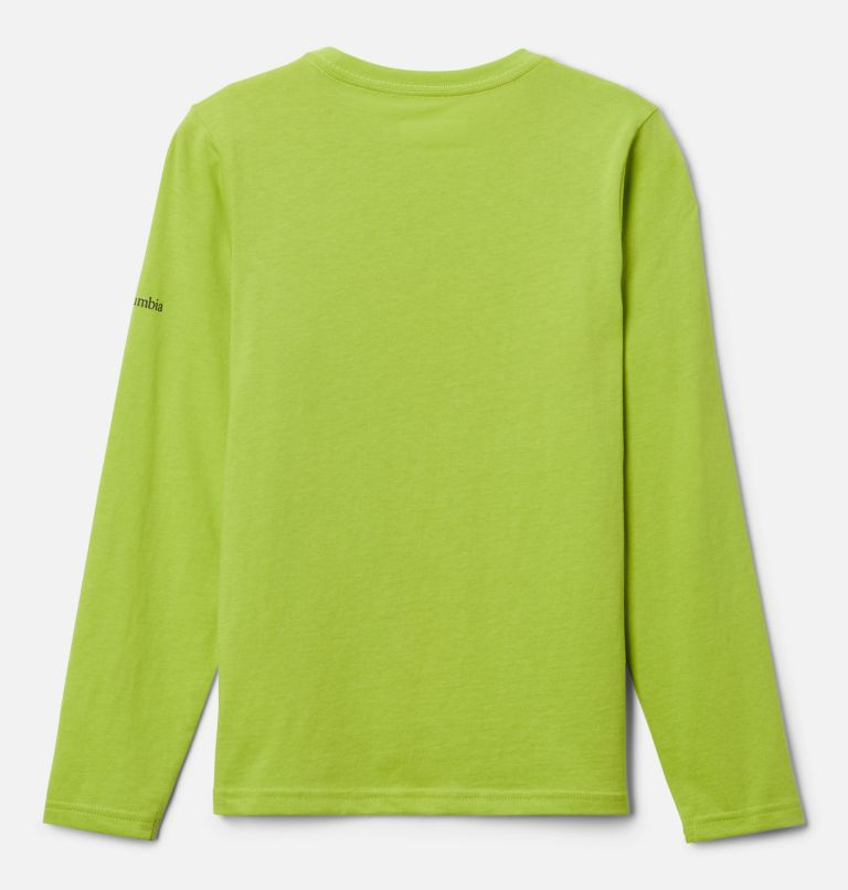 Naturally Wild™ Graphic LS Tee | 386 | XL Boys' Naturally Wild™ Graphic Long Sleeve Shirt, Bright Chartreuse, back