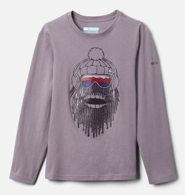 Naturally Wild™ Graphic LS Tee | 554 | XL Boys' Naturally Wild™ Graphic Long Sleeve Shirt, Shale Purple, front