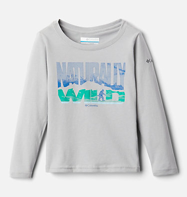 Boys' Toddler Naturally Wild™ Graphic Long Sleeve Shirt Naturally Wild™ Graphic LS Tee | 432 | 3T, Columbia Grey, front
