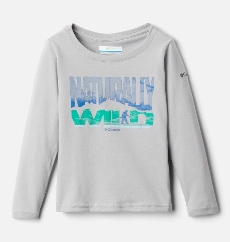 Naturally Wild™ Graphic LS Tee | 039 | 4T Boys' Toddler Naturally Wild™ Graphic Long Sleeve Shirt, Columbia Grey, front