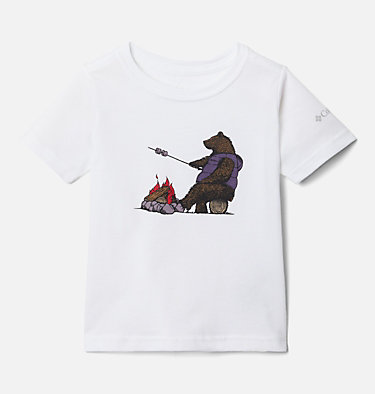 Boys' Toddler Roast and Relax™ Graphic T-Shirt Roast and Relax™ Graphic SS Tee | 100 | 2T, White, front