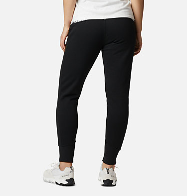 Women's Columbia Lodge Knit Jogger Columbia Lodge™ Knit Jogger | 010 | L, Black, White Typo Print, back
