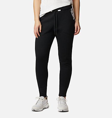 Women's Columbia Lodge Knit Jogger Columbia Lodge™ Knit Jogger | 010 | L, Black, White Typo Print, front