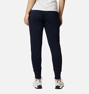 Pantalón de chándal de punto Columbia Lodge para mujer Columbia Lodge™ Knit Jogger | 010 | L, Dark Nocturnal, Typo Multi Print, back
