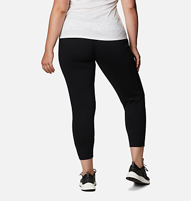 Jogging en tricot Columbia Lodge™ pour femme - Grandes tailles Columbia Lodge™ Knit Jogger | 011 | 2X, Black, White Typo Print, back