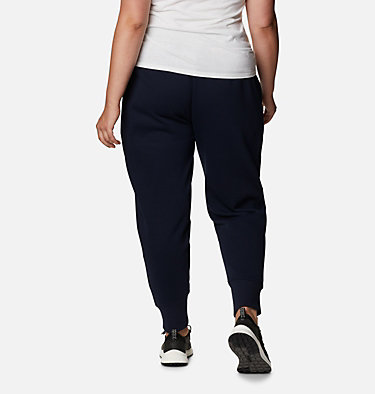Women's Columbia Lodge™ Knit Joggers - Plus Size Columbia Lodge™ Knit Jogger | 472 | 1X, Dark Nocturnal, Typo Multi Print, back