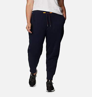 Women's Columbia Lodge™ Knit Joggers - Plus Size Columbia Lodge™ Knit Jogger | 472 | 1X, Dark Nocturnal, Typo Multi Print, front