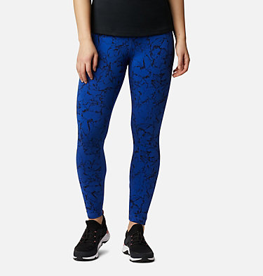 Women's Columbia Lodge Legging Columbia Lodge™ Legging | 012 | L, Lapis Blue Brushstroke Print, front