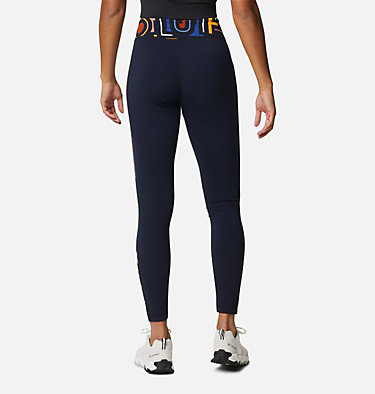 Women's Columbia Lodge Legging Columbia Lodge™ Legging | 012 | L, Dark Nocturnal Typo Print, back