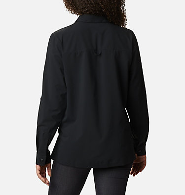 Women's Essential Elements™ Woven Long Sleeve Shirt Essential Elements™ Woven LS Shirt | 100 | L, Black, back