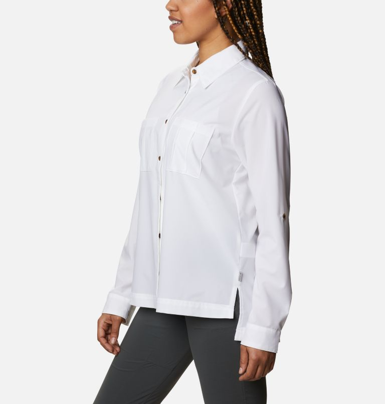 Essential Elements™ Woven LS Shirt | 100 | S Chandail tissé à manches longues Essential Elements™ pour femme, White, a1