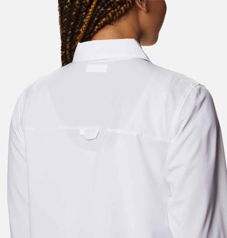 Essential Elements™ Woven LS Shirt | 100 | S Chandail tissé à manches longues Essential Elements™ pour femme, White, a3