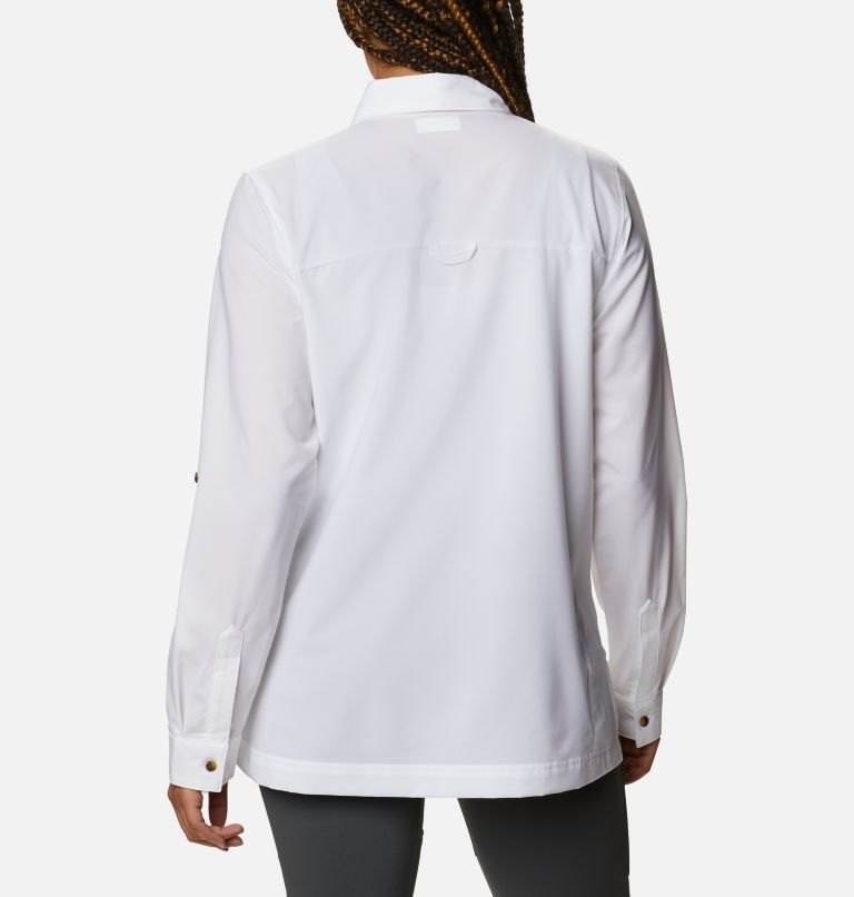 Essential Elements™ Woven LS Shirt | 100 | S Chandail tissé à manches longues Essential Elements™ pour femme, White, back