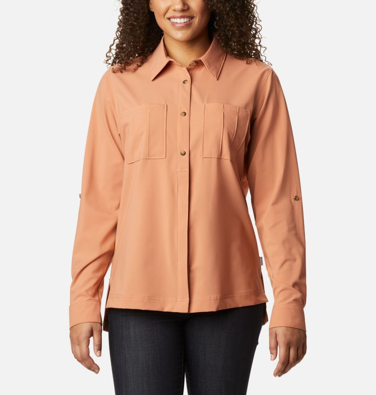 Women's Essential Elements™ Woven Long Sleeve Shirt Women's Essential Elements™ Woven Long Sleeve Shirt, front