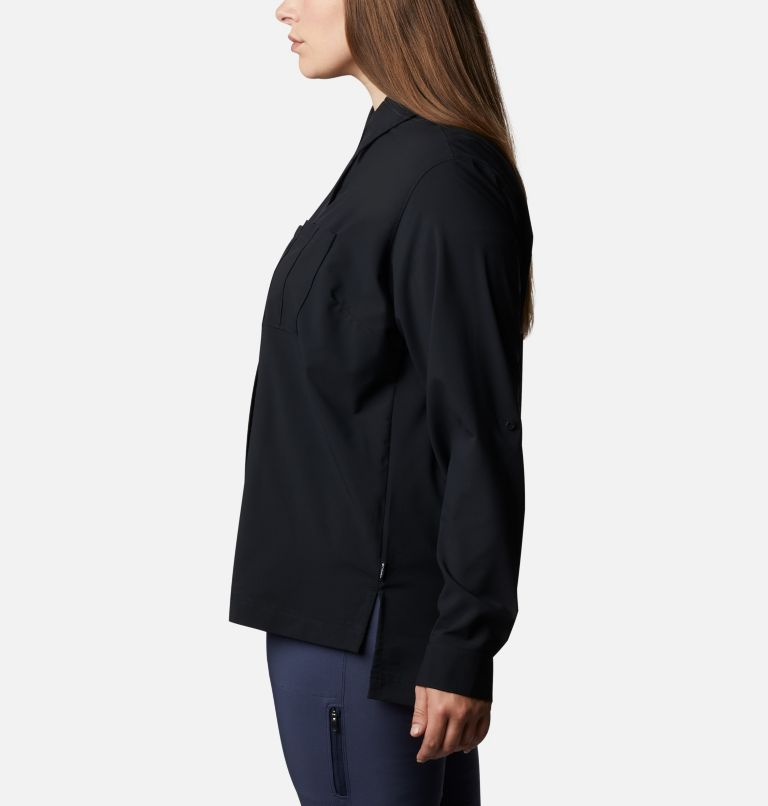 Women's Essential Elements™ Woven Long Sleeve Shirt - Plus Size Women's Essential Elements™ Woven Long Sleeve Shirt - Plus Size, a1