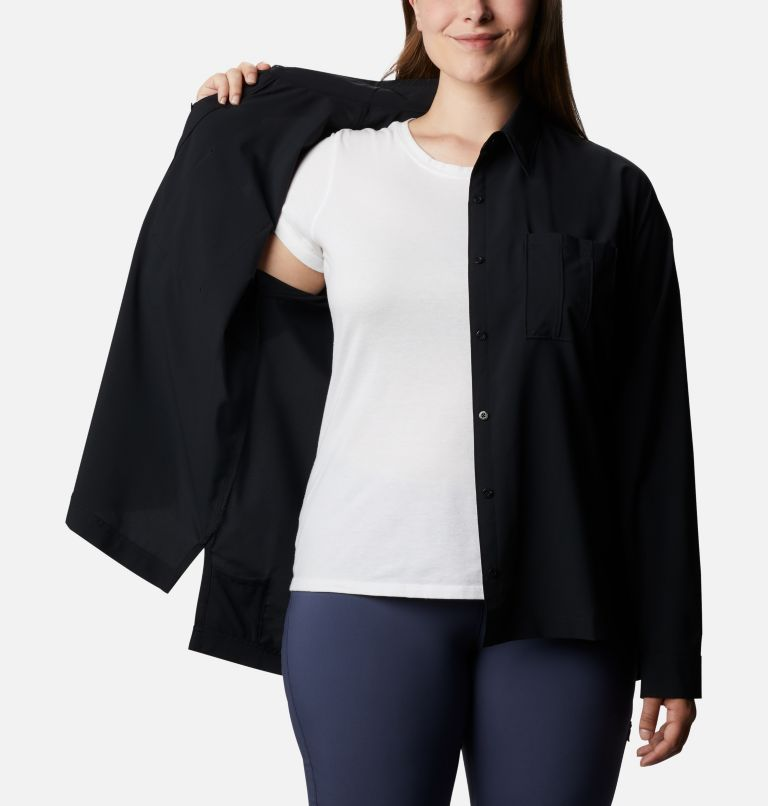Women's Essential Elements™ Woven Long Sleeve Shirt - Plus Size Women's Essential Elements™ Woven Long Sleeve Shirt - Plus Size, a3