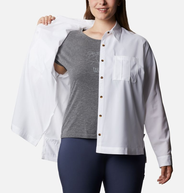 Women's Essential Elements™ Woven Long Sleeve Shirt - Plus Size Women's Essential Elements™ Woven Long Sleeve Shirt - Plus Size, a4