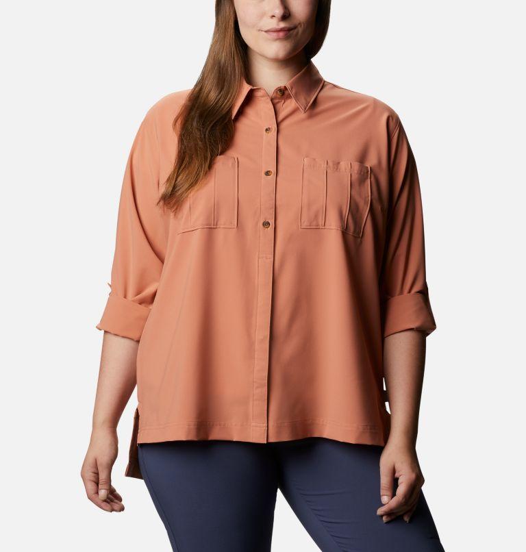 Women's Essential Elements™ Woven Long Sleeve Shirt - Plus Size Women's Essential Elements™ Woven Long Sleeve Shirt - Plus Size, a3