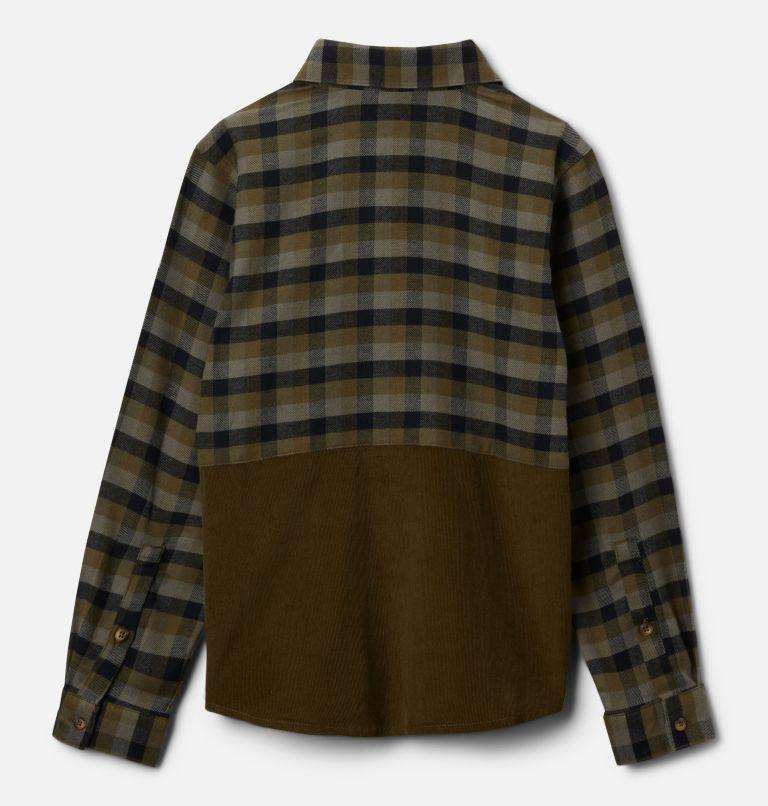 Rockfall™ Flannel | 327 | XXS Boys' Rockfall™ Flannel Shirt, New Olive Plaid, New Olive, back
