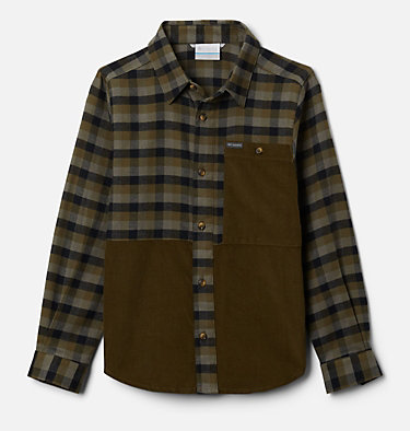Boys' Rockfall™ Flannel Shirt Rockfall™ Flannel | 885 | M, New Olive Plaid, New Olive, front