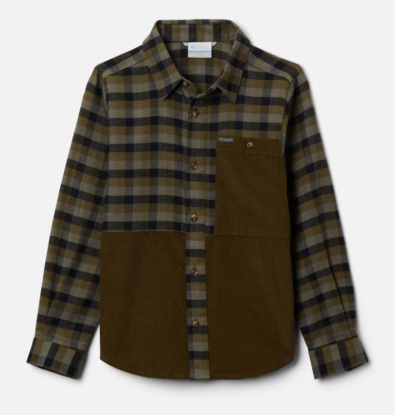 Rockfall™ Flannel | 327 | XXS Boys' Rockfall™ Flannel Shirt, New Olive Plaid, New Olive, front