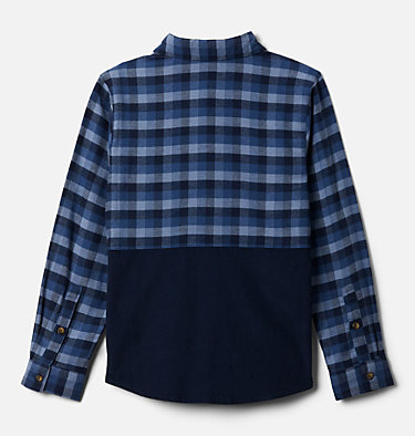 Boys' Rockfall™ Flannel Shirt Rockfall™ Flannel | 885 | M, Night Tide Plaid, Collegiate Navy, back