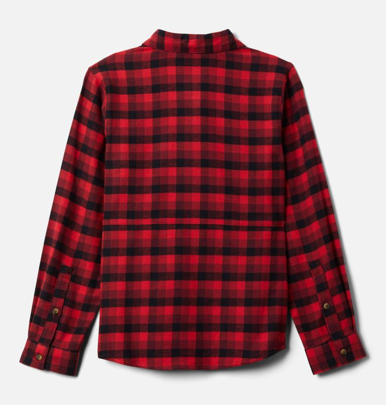 Rockfall™ Flannel | 664 | XL Boys' Rockfall™ Flannel Shirt, Red Jasper Plaid, back