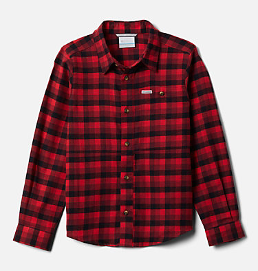Boys' Rockfall™ Flannel Shirt Rockfall™ Flannel | 885 | M, Red Jasper Plaid, front