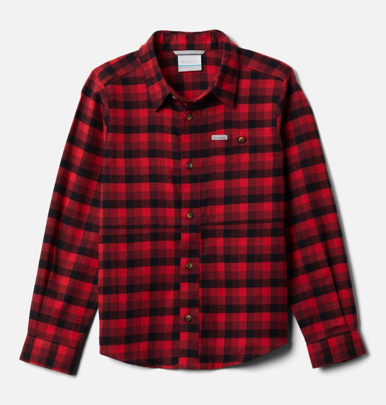 Rockfall™ Flannel | 664 | XL Boys' Rockfall™ Flannel Shirt, Red Jasper Plaid, front