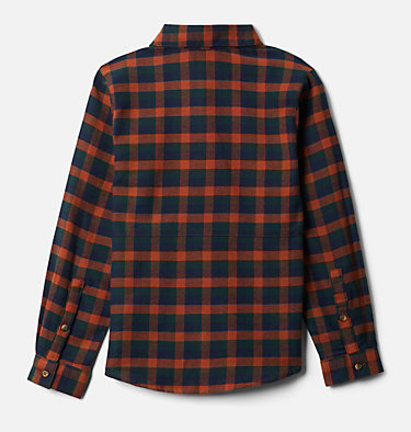 Boys' Rockfall™ Flannel Shirt Rockfall™ Flannel | 885 | M, Dark Adobe Plaid, back