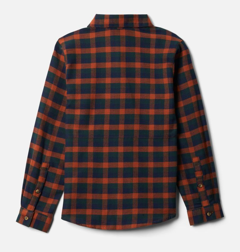 Rockfall™ Flannel | 885 | XXS Boys' Rockfall™ Flannel Shirt, Dark Adobe Plaid, back
