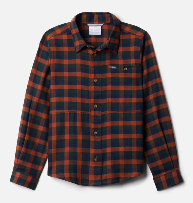 Rockfall™ Flannel | 885 | XXS Boys' Rockfall™ Flannel Shirt, Dark Adobe Plaid, front