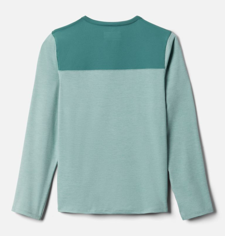 Better Edge™ Long Sleeve Shirt | 345 | XXS Boys' Better Edge™ Long Sleeve Shirt, Aqua Tone, Thyme Green, back