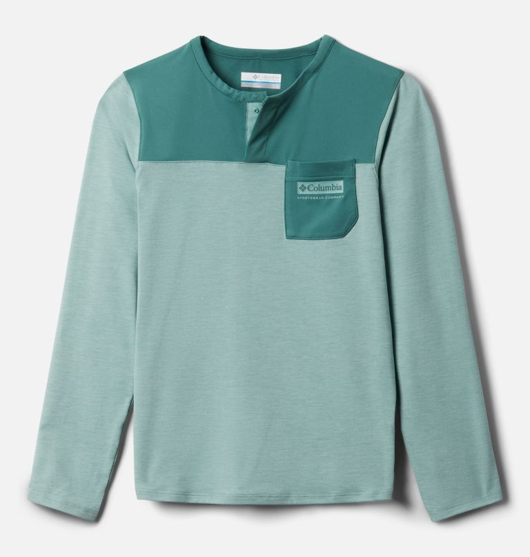 Better Edge™ Long Sleeve Shirt | 345 | XXS Boys' Better Edge™ Long Sleeve Shirt, Aqua Tone, Thyme Green, front