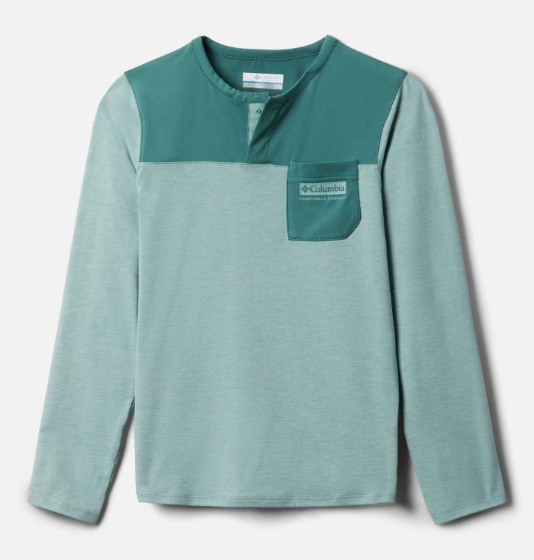 Better Edge™ Long Sleeve Shirt | 345 | XXS Boys' Better Edge™ Long Sleeve Shirt, Aqua Tone, Thyme Green, front