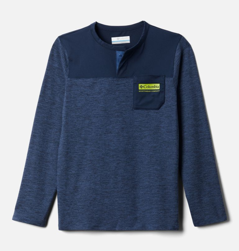 Better Edge™ Long Sleeve Shirt | 452 | XXS Boys' Better Edge™ Long Sleeve Shirt, Night Tide, Collegiate Navy, front