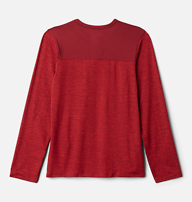 Boys' Better Edge™ Long Sleeve Shirt Better Edge™ Long Sleeve Shirt | 613 | XXS, Mountain Red Heather, Red Jasper, back