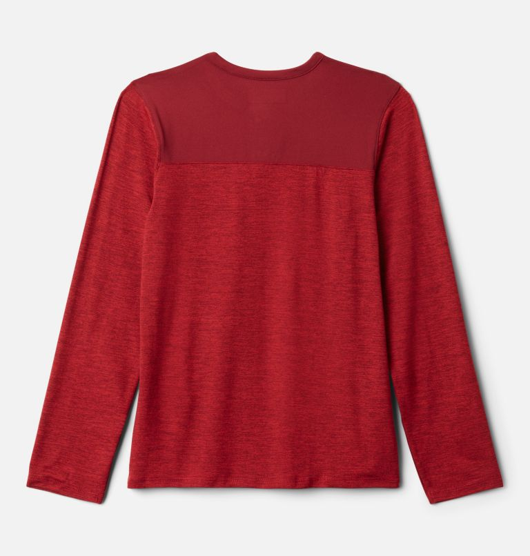 Better Edge™ Long Sleeve Shirt | 613 | S Boys' Better Edge™ Long Sleeve Shirt, Mountain Red Heather, Red Jasper, back