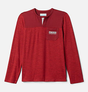 Boys' Better Edge™ Long Sleeve Shirt Better Edge™ Long Sleeve Shirt | 613 | XXS, Mountain Red Heather, Red Jasper, front